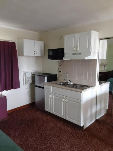 A kitchen or kitchenette at Wye Motor Lodge