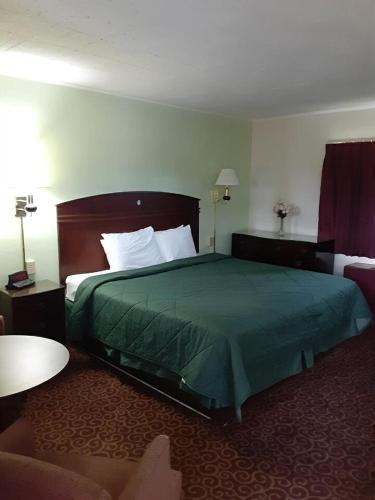 A bed or beds in a room at Wye Motor Lodge