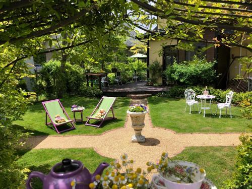 A garden outside Hotel Wellies