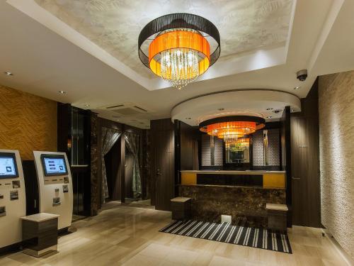The lobby or reception area at APA Hotel Akihabara-Ekimae