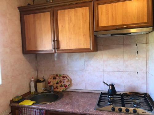 A kitchen or kitchenette at ValDa Hotel on TUMANYAN