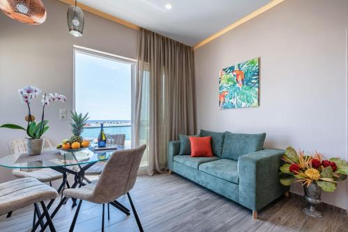 A seating area at Big Blue suites 1