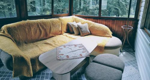 Кът за сядане в Guest House Villa Vanesa