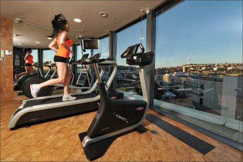 The fitness center and/or fitness facilities at Quality Hotel Brno Exhibition Centre