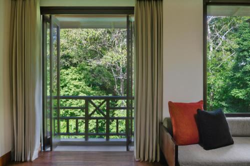 A seating area at The Andaman, a Luxury Collection Resort, Langkawi