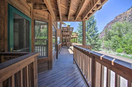 A balcony or terrace at Ouray Retreat with Patio - 1 Mi to Main Street!