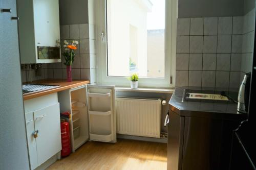 A kitchen or kitchenette at Grand Hostel Berlin Classic
