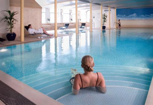 The swimming pool at or near New Lanark Mill Hotel