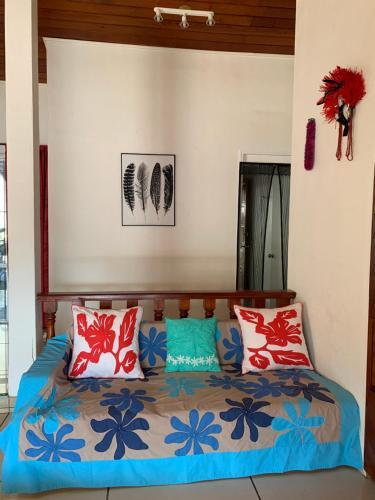 Cama ou camas em um quarto em Wendy Location