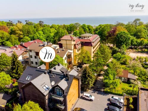 A bird's-eye view of My Story Sopot Apartments