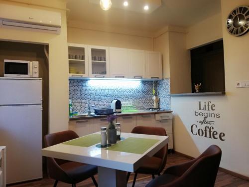 A kitchen or kitchenette at ARIEL Apartman