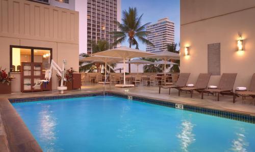 The swimming pool at or near Hyatt Place Waikiki Beach