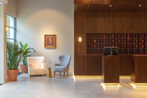The lobby or reception area at Buitenplaats Vaeshartelt