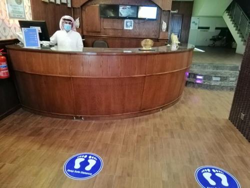منطقة الاستقبال أو اللوبي في فندق سوفي