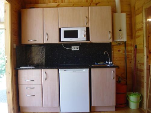 Una cocina o zona de cocina en Camping Vall de Ribes
