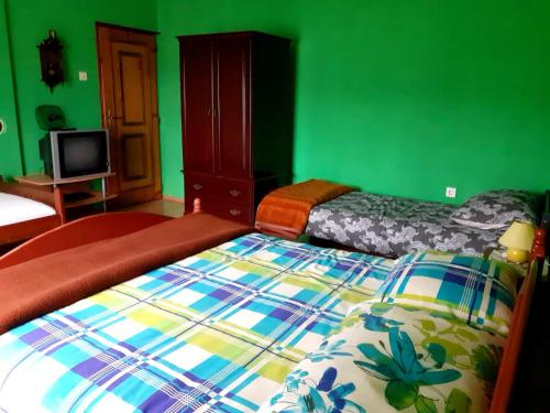 Кровать или кровати в номере Apartment Irena