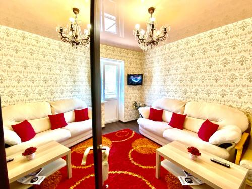 Гостиная зона в 2-х комнатная квартира на Набережной