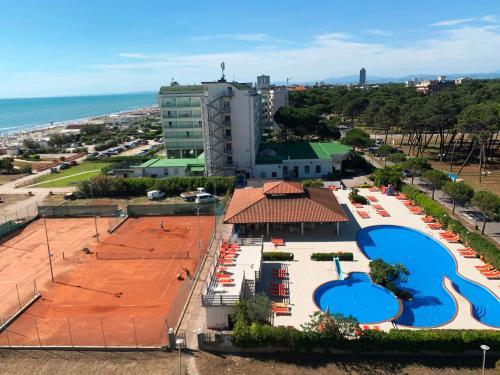 Vista aerea di Hotel Adria