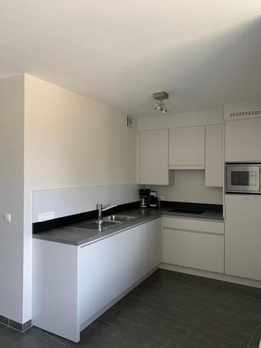 A kitchen or kitchenette at Karthuizer Zeezicht I