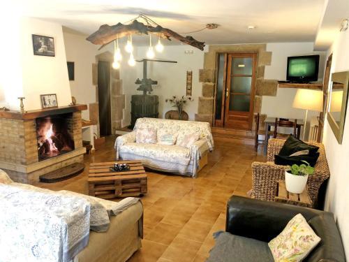 Zona de estar de Casa Rural Can Miquel