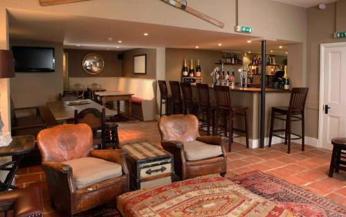 The lounge or bar area at The King's Head