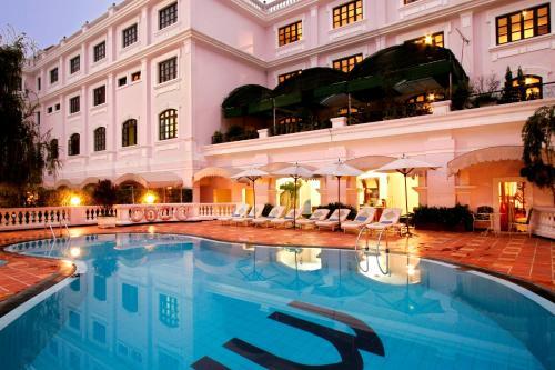 The swimming pool at or near Saigon Morin Hotel