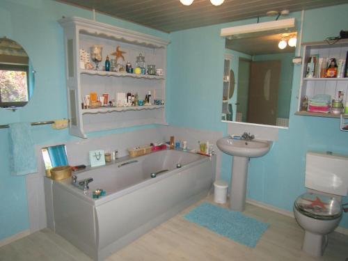 A bathroom at Fermette dans les pays de la Loire
