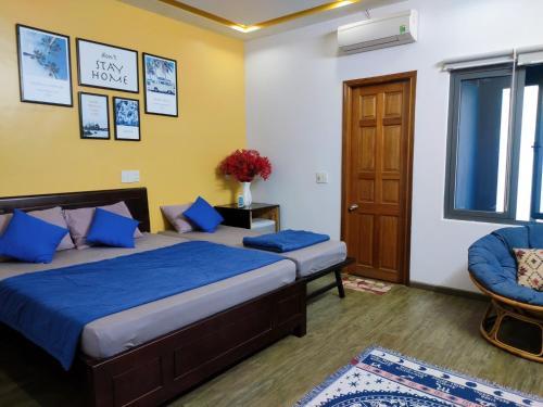 峴港康提基旅舍房間的床