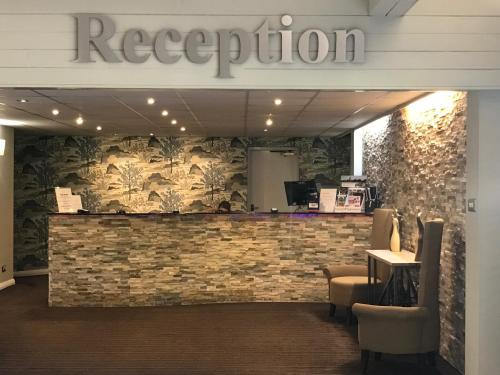 The lobby or reception area at Dunchurch Park Hotel