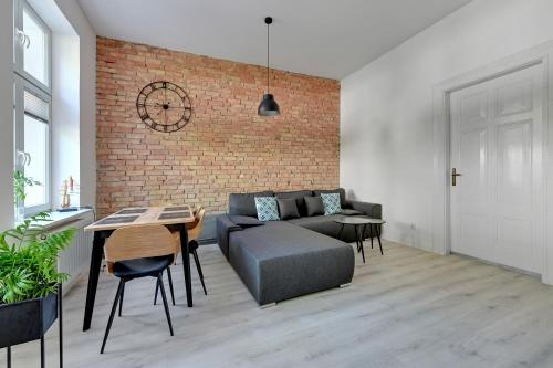 A seating area at Apartament Haffnera 30