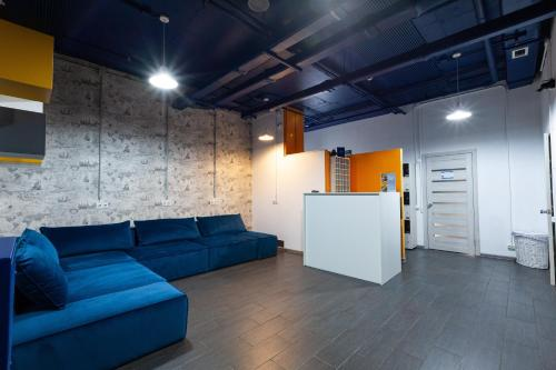A seating area at Capsule Hostel 47Nebo