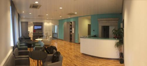 The lobby or reception area at Hotel Slavija