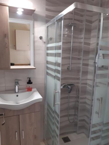 Ванная комната в Georgia Apartments & Studios Corfu
