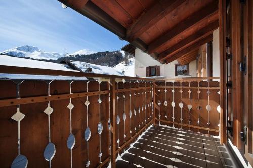 Balkón nebo terasa v ubytování Appartamenti Bait Carosello