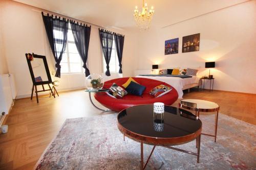 Posezení v ubytování Fano Apartments Old Town Prague