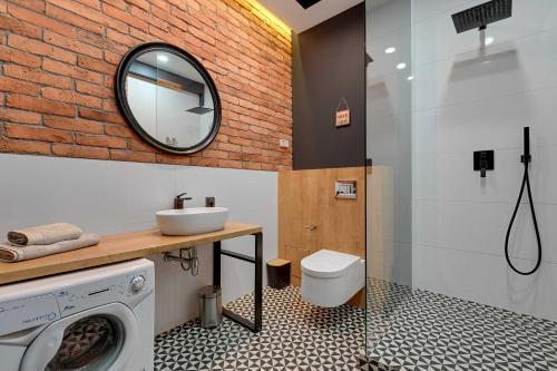A bathroom at Apartament Haffnera 30