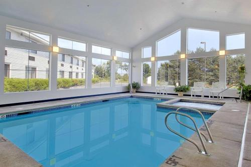 The swimming pool at or near Super 8 by Wyndham Portland/Westbrook Area