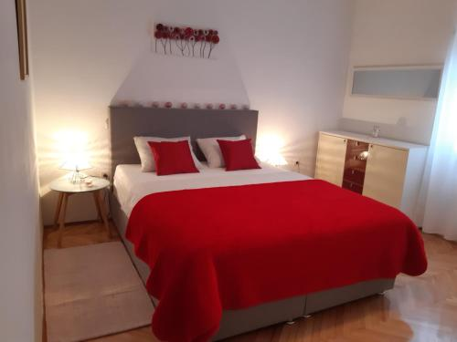 A bed or beds in a room at Holiday home Jardin