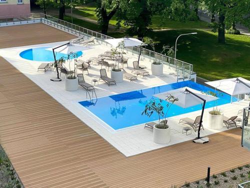 A view of the pool at Bodnar Apartamenty Nadmorskie Tarasy Port or nearby