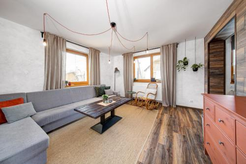 Posezení v ubytování Rodinné apartmány Alex & Gregor