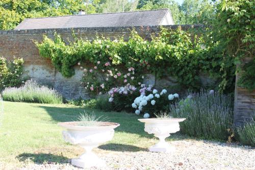 A garden outside Chambres d'Aumont