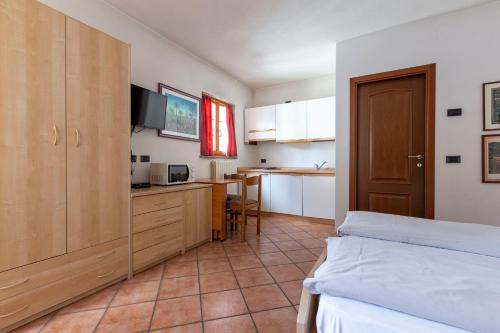 TV a/nebo společenská místnost v ubytování Chalet Olta