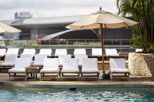 The swimming pool at or near Grand Hyatt Hong Kong