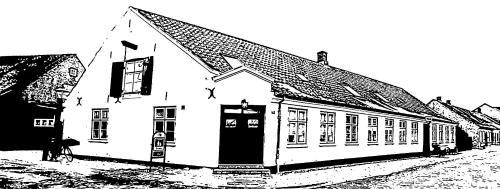 Den Gamle Købmandsgaard Bed & Breakfast om vinteren