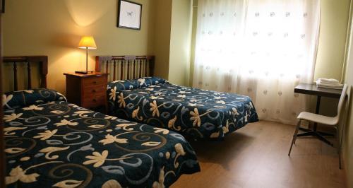 Cama o camas de una habitación en Casa Matías