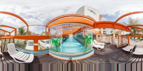 The swimming pool at or near Pousada Águas do Mariscal