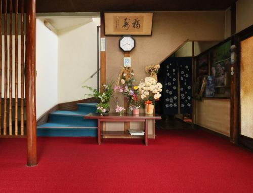The lobby or reception area at Ryokan Masuya