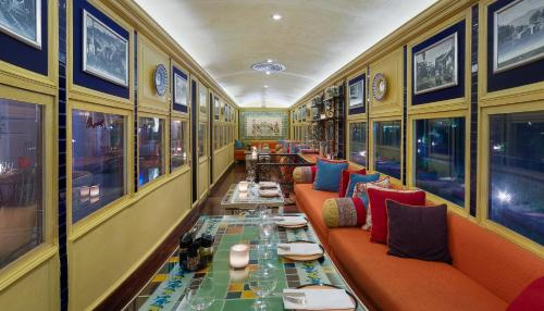 A restaurant or other place to eat at Rambagh Palace