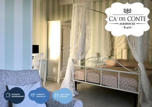 A bed or beds in a room at Ca' Del Conte