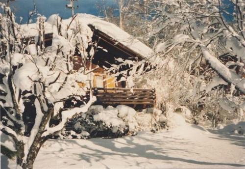 Ferienhüsli during the winter
